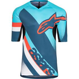 Alpinestars Racer Lyhythihainen Jersey Miehet, atoll blue/poseidon blue